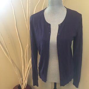 Ann Taylor medium purple cardigan
